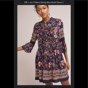 Anthropologie Eri & Ali Tiffany Swing Dress